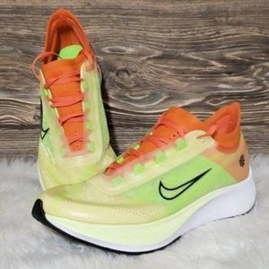 New Nike Zoom Fly 3 Rise Neon Running Sneakers